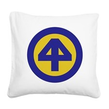 44th Infantry Division Square Canvas Pillow