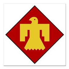 "45th Infantry Division Square Car Magnet 3"" x 3"""