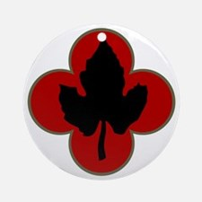 43rd Infantry Division Round Ornament