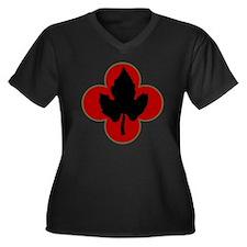 43rd Infantr Women's Plus Size Dark V-Neck T-Shirt