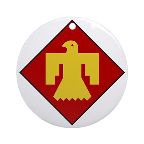 45th Infantry Division Round Ornament