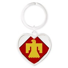 45th Infantry Division Heart Keychain