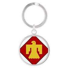 45th Infantry Division Round Keychain