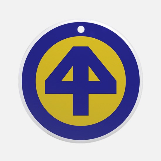 44th Infantry Division Round Ornament