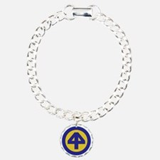 44th Infantry Division Charm Bracelet, One Charm