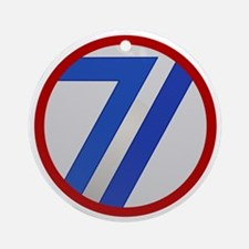 71st Infantry Division Round Ornament