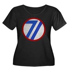 71st Inf Women's Plus Size Dark Scoop Neck T-Shirt