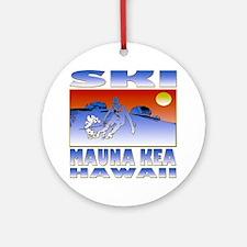 SKI MAUNA KEA Round Ornament