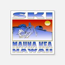"""SKI MAUNA KEA Square Sticker 3"""" x 3"""""""