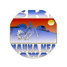 """SKI MAUNA KEA 3.5"""" Button"""