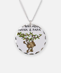 KPMDOODLESwilddNANAPAPA Necklace Circle Charm