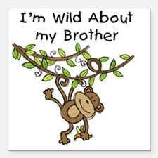 "KPMDOODLESwildbrother Square Car Magnet 3"" x 3"""