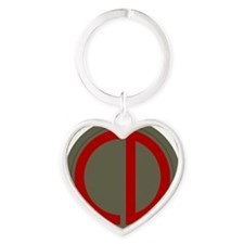 85th Infantry Division Heart Keychain