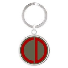 85th Infantry Division Round Keychain