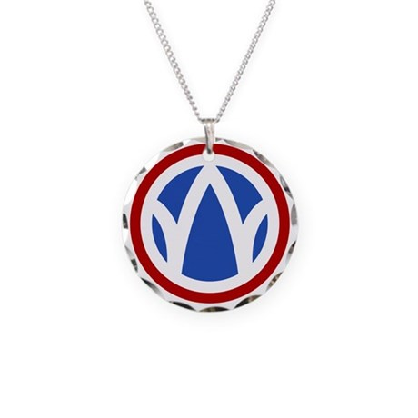 89th Infantry Division Necklace Circle Charm
