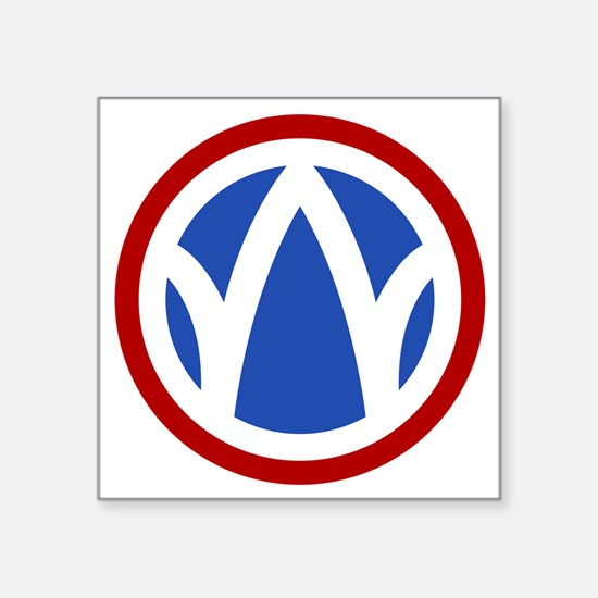 """89th Infantry Division Square Sticker 3"""" x 3"""""""