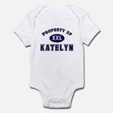 Property of katelyn Infant Bodysuit