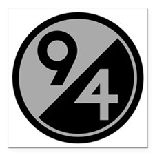 """94th Infantry Division Square Car Magnet 3"""" x 3"""""""