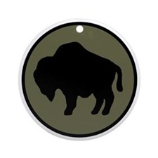 92nd Infantry Division Round Ornament