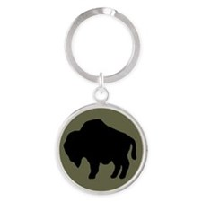 92nd Infantry Division Round Keychain