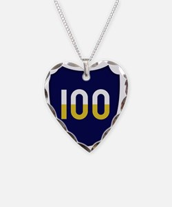 100th Infantry Division Necklace Heart Charm