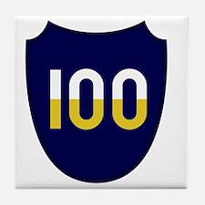 100th Infantry Division Tile Coaster