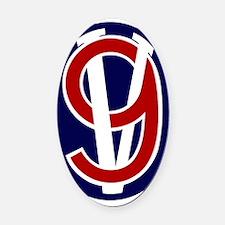 95th Infantry Division Oval Car Magnet