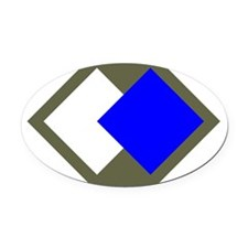 96th Infantry Division Oval Car Magnet