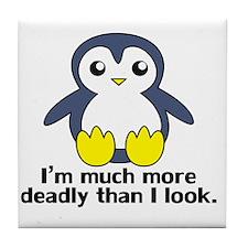 Deadly Penguin Tile Coaster