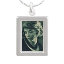 Lillian Gish 1921 Silver Portrait Necklace