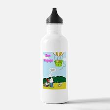 bon voyage cat in ball Water Bottle