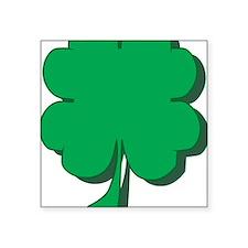 """Four-Leaf-Clover Square Sticker 3"""" x 3"""""""