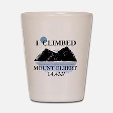 Iclimbedelbert Shot Glass