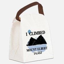 Iclimbedelbert Canvas Lunch Bag