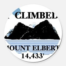Iclimbedelbert Round Car Magnet