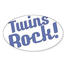 Retro_Twins Rock_Blue_Bib Decal