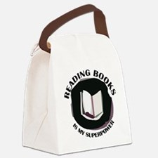 reading books is my superpower Canvas Lunch Bag