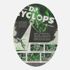 Dr Cyclops vintage movie poster Oval Ornament
