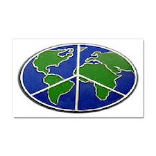 WorldPeaceSign.gif Car Magnet 20 x 12
