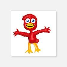 "Cathy Cardinal 2a Square Sticker 3"" x 3"""