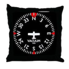 heading_clock Throw Pillow