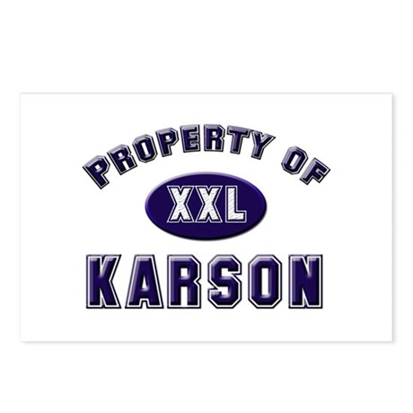 Property of karson Postcards (Package of 8)