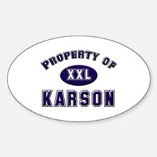 Property of karson Oval Decal
