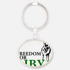 Freedom for Libya Oval Keychain
