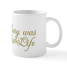 Mary was Pro-Life (Black) Small Mug