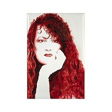 Artist red portrait. Rectangle Magnet