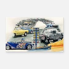 drag racing Rectangle Car Magnet