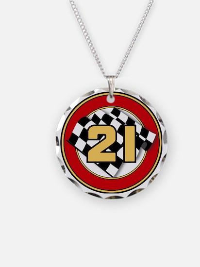 CAR 21 CHECKERED FLAG Necklace