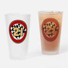 CAR 21 CHECKERED FLAG Drinking Glass