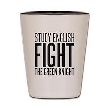 English green knight Shot Glass